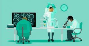 laboratório - desenho pessoas trabalhando