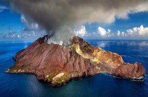 new zealand, volcano, crater
